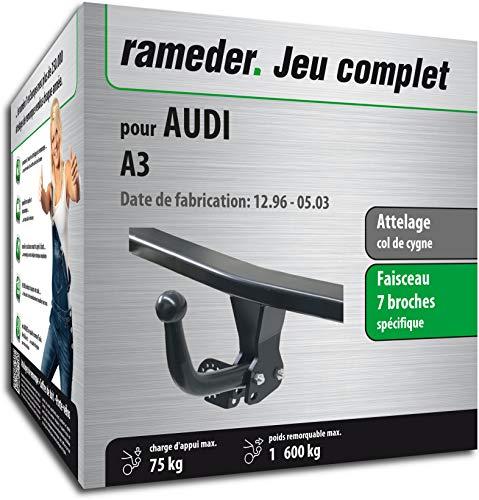 Rameder Attelage démontable avec Outil pour Audi A3 + Faisceau 7 Broches (132721-01557-1-FR)