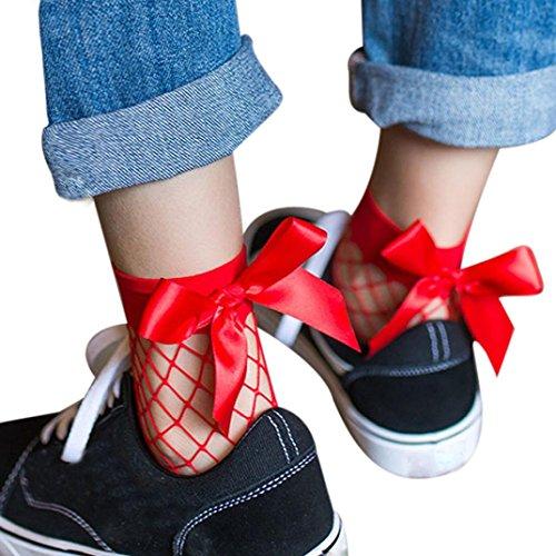 WINWINTOM Frauen Rüsche Fischnetz Knöchel Hohe Socken Mesh Spitze Fisch Netz Kurze Socken (Oberschenkel Breite Hohe Stiefel)