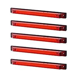 5x lungo LED rosso posteriore luce di indicatore laterale 12V 24V e-contrassegnato luce di posizione auto camion rimorchio camper caravan furgone tetto Tail Cab top universale