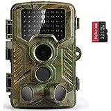 COOLIFE Caméra de Chasse Caméra de Surveillance Étanche 46 LEDs 16MP 1080P HD 20m Grand Angle 125 ° De Vision Nocturne Traque IR Caméra de Jeu Nocturne Infrarouge