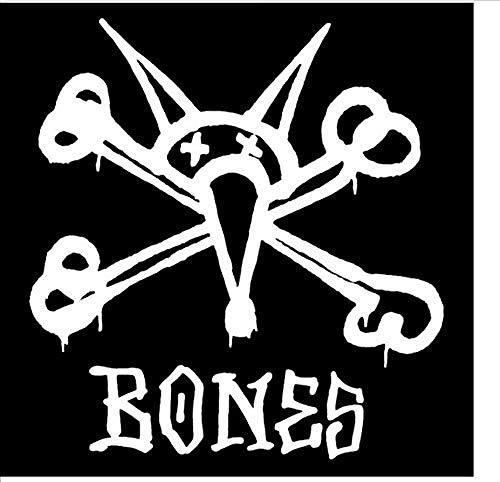 Bbnnn 12 6 Cm * 13 6 Cm Ratte Knochen Powell Brigade Skater Aufkleber Motorrad Vinyl Aufkleber Auto Schwarz/Silber / 3 Stücke -