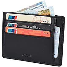 Genuine Leather Credit Card Holder Wallet for Men RFID Blocking Slim Minimalist Front Pocket Money Clip by Bestkee