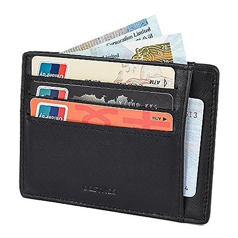 BESTKEE Portefeuille En Cuir, Etui RFID Blocage Porte Carte de Crédit, Zip Porte-monnaie for men