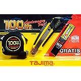 Tajima édition spéciale 100ans Set avec mètre à ruban, Cutter, Lames de rechange gratuite lcb50rb/LC560/gm550my, 1pièce, Taj de 75215