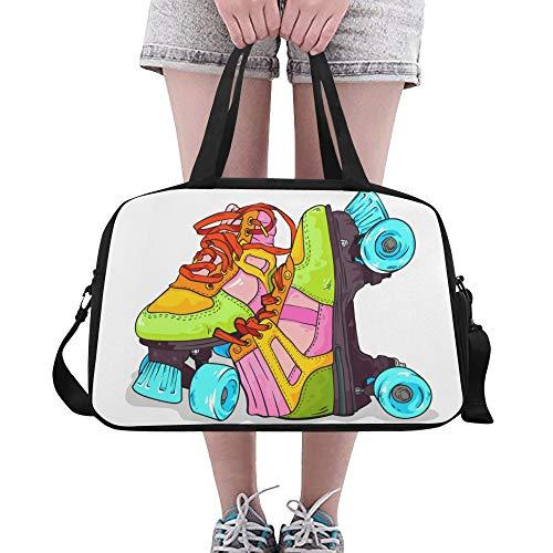 Zemivs Sport Rollschuh Schuhe Große Yoga Gym Totes Fitness Handtaschen Reise Seesäcke Schultergurt Schuhbeutel Für Übung Sport Gepäck Für Mädchen Männer Frauen Outdoor