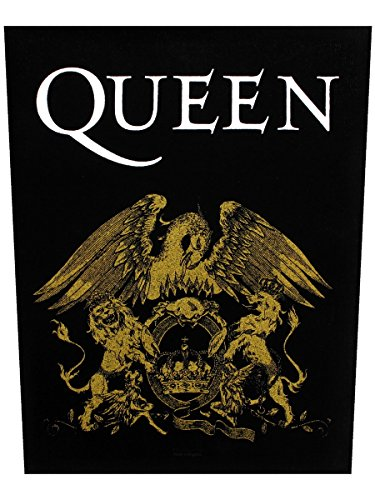 Reina de escudo parche trasero negro