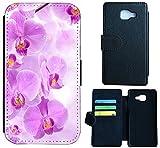 Huawei Nova Hülle Flip Cover Case Schutzhülle für das Nova von Huawei Design (1024 Orchidee Lila Weiß Blume)