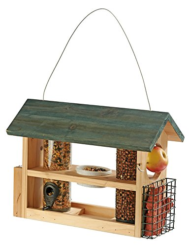hanging-wooden-garden-bird-feeder-station-table-seed-station-with-fruit-pin-and-water-dish