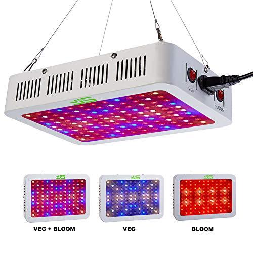 JS Products LED Pflanzenlampe 1000W mit Veg/Bloom Dimmen, Vollspektrum LED Grow Light Pflanzenlicht mit Daisy-Chain Funktion Wachstumslampe Pflanzenleuchte für Gemüse,Blumen und Gewächshaus Pflanze