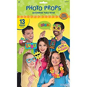 Amscan - 398394 Hawaiian Luau Photo Prop Kit