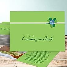 Einladungskarten Basteln Taufe, Glückspilz 10 Karten, Horizontal Einfach  148x105 Inkl. Weiße Umschläge,