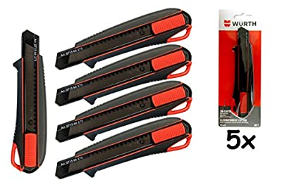 Würth 5x 2K Cutter-Messer mit Schieber incl. 3 Klingen von Würth auf TapetenShop