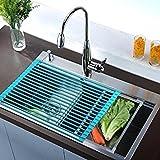 Sopra il lavandino, Drainer cucina, OUTAD Rilascio di Rollaggio Raffreddamento Rack Piastra pieghevole multifunzione lavastoviglie da cucina