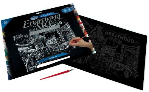 Royal & Langnickel FAM-9 - Engraving Art/Kratzbilder, DIN A3, Hollywood, silber im Preisvergleich