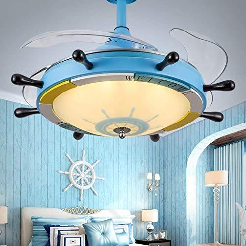 ZHYWJ Deckenventilator leuchtet Beleuchtung Kronleuchter Restaurant Vintage minimalistisch Moderne Hause Fans mit grünem Licht Deckenventilator 48 Zoll Fan elektrische 48 vorläufig,Wandsteuerung (48 Deckenventilator Zoll)