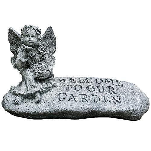 Garten-Engels-Statue, Garten-kleines Mädchen-Skulptur-Harz macht Garten-Hof-Dekorations-Landschaft in Handarbeit (Kleines Mädchen Statue Garten)