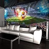 Wandgemälde Individuelle Fototapeten 3D Stereoskopische Fußballplatz Fußball Große Wandbilder Tapete Wandmalerei Schlafzimmer Wohnzimmer Wohnkultur,180Cm(H)×280Cm(W)