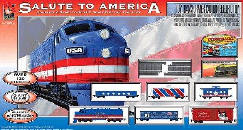 Life Like Trains Ho Scale Salute To America Electric Train Set