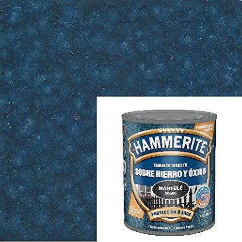 Esmalte Antioxidante Martele DIRECTO AL HIERRO HAMMERITE Azul Oscuro 750 Ml.