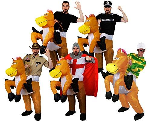 Pferd Kostüme Erwachsenen Jockey (AUFBLASBARES KOSTÜM FÜR EINE
