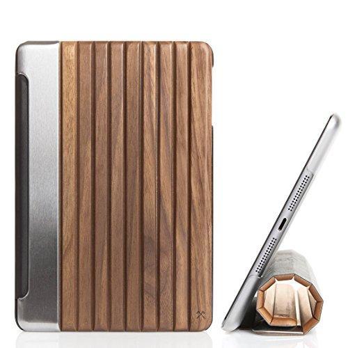 Woodcessories - EcoGuard iPad Case - Premium Design Cover, Hülle für das iPad aus echtem Holz (iPad Mini 4, Walnuss, Hardcover transparent)