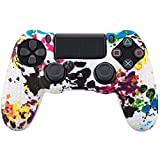 Leoie Camouflage Case Graffiti Studded Dots Silicone Rubber Gel Skin for Sony PS4 Slim/Pro Controller Cover Case for Dualshock4 Graffiti