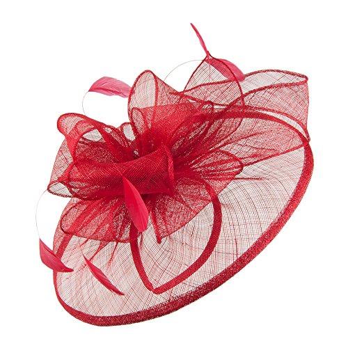 Chapeau Bibi Lucy rouge FAILSWORTH Rouge