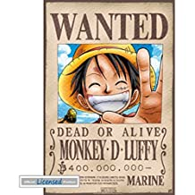 One Piece - Wanted Monkey D. Luffy Póster Mini (52 x 35cm)