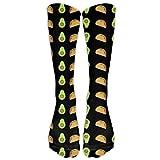 Bag hat Fynny Taco And Avocado Pattern Classics Stockings, Great Quality Knee High Tube Socks, Sports Long Socks For Men Women