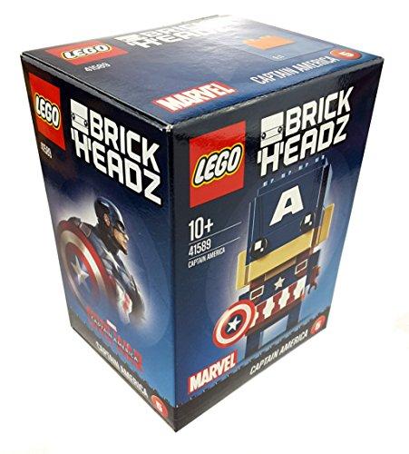 1 x LEGO BrickHeadz 41589 Marvel Captain America (5) ca. 7 cm groß + Grundplatte Figur neu 2017 Sammler