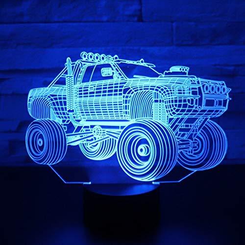 3D Led Nachtlicht,Panzer Suv Panzerwagen Mit 7 Farben Licht Für Heimtextilien Lampe Erstaunliche Visualisierung, Fernbedienung