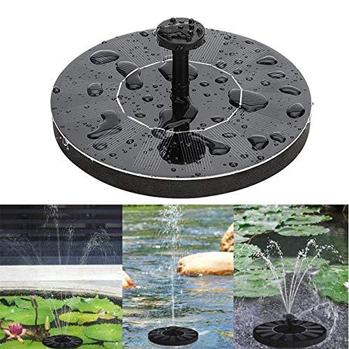 Baiwka Solarbrunnenpumpe, 1.4 W Kreissolarwasserpumpe Mit 6 Düsen Für Verschiedene Wasserflüsse, Schwimmbrunnenpumpe Für Vogelbäder, Teich, Pool Und Garten