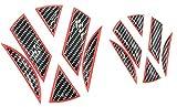 Finest-Folia 3D Emblem Gel Aufkleber Vorne + Hinten (Carbon Schwarz Rot)