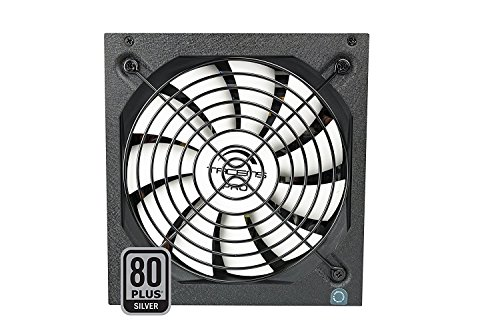 Tacens Radix VII AG - Fuente de alimentación para PC (700 W, ATX, PFC activo, ventilador 14 cm, 12 V, 80 Plus Silver, +87% eficiencia, ecológico), color negro