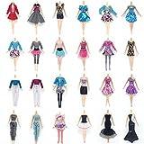 Lance Home 30 Stück Puppenzubehör (10 Kleider+10 Schuhe+10 Handtasche) für Barbie Puppen