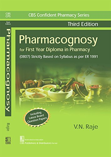 PHARMACOGNOSY FOR FIRST YEAR DIPLOMA IN PHARMACY 3ED (PB 2020)
