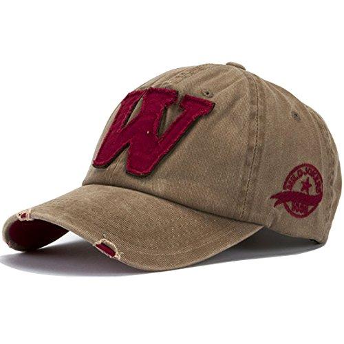 Vintage Cap (Kuyou Vintage Baseball Kappe Unisex Sport Distressed Trucker Cap (Khaki))