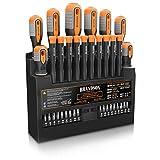 Brandson - Set di cacciaviti Professionali 36 pezzi - 18 punte Bit - Manici in gomma - Leggi