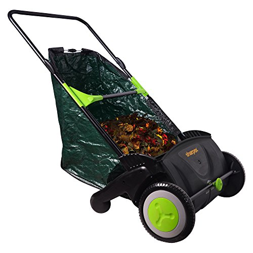 Sharpex Garden Cleaner Tool 21 Inch, Leaf & Grass Push Lawn Sweeper, Light weight Durable Plastic Material (Green)