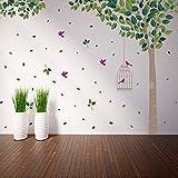 Wallflexi Wall Stickers verde albero Wall Art murale smontabile autoadesivo decalcomanie Kindergarden cameretta dei bambini ristorante hotel ufficio casa decorazione, multicolore
