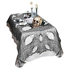Idea Regalo - Tovaglia di Halloween decorazione per tavola panno stracciato decorativo per la stanza stoffa per party di Halloween - 75 x 300 cm