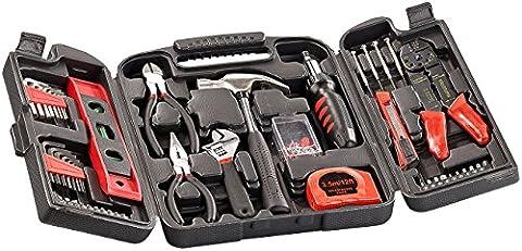 AGT Werkzeugkasten: Universal-Werkzeugset im Koffer WZK-501, 50-teilig (Werkzeugsatz)