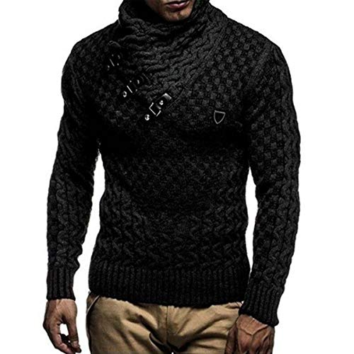 YtoaBmebqsu 2019 Men Sweaters Warm Pullover Sweaters Man Casual Knitwear Winter Men Black Sweatwer XXXL Computer Knitted Black XXXL -