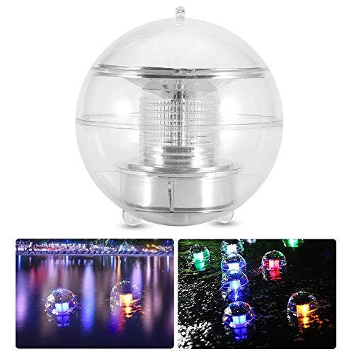 nde LED-Lichter, 2 Stücke wasserdichte Ball Lampe LED solarbetriebene Pool Licht mit Farbwechsel für Garten Schwimmbad Teich Party Home Decor ()