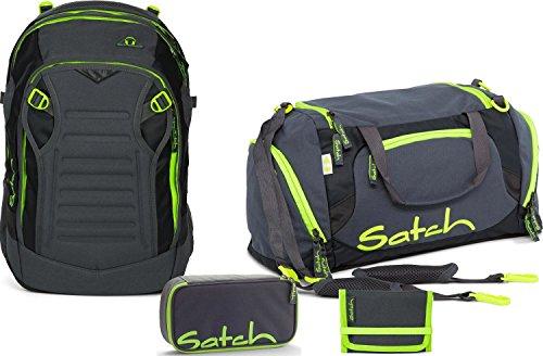 Satch Schulrucksack-Set 4-TLG Match Phantom grau
