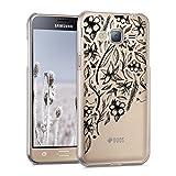 kwmobile Samsung Galaxy J3 (2016) DUOS Hülle - Handyhülle für Samsung Galaxy J3 (2016) DUOS - Handy Case in Schwarz Transparent
