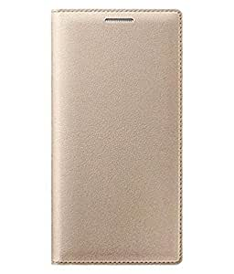 Mobiclonics Hybrid Leather Flip Cover For Coolpad Note 5 - Golden