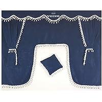 Other Set de 5piezas azul cortinas con borlas de color blanco Universal tamaño todos los modelos de camión cabina accesorios decoración tejido de felpa