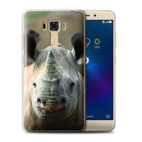 Stuff4® Gel TPU Hülle/Case für Asus ZenFone 3 Laser ZC551KL / Nashorn Muster/Wilde Tiere Kollektion