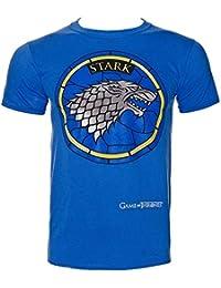 Game Of Thrones House Stark T Shirt (Bleu)